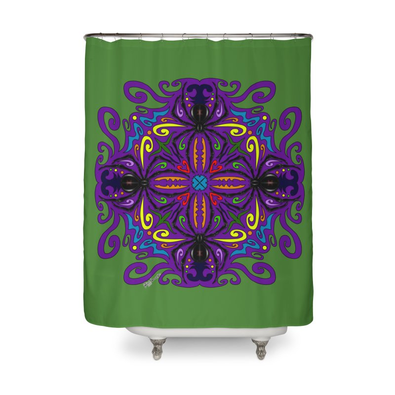 Arachnophobia Home Shower Curtain by Magickal Vision: The Art of Jolie E. Bonnette