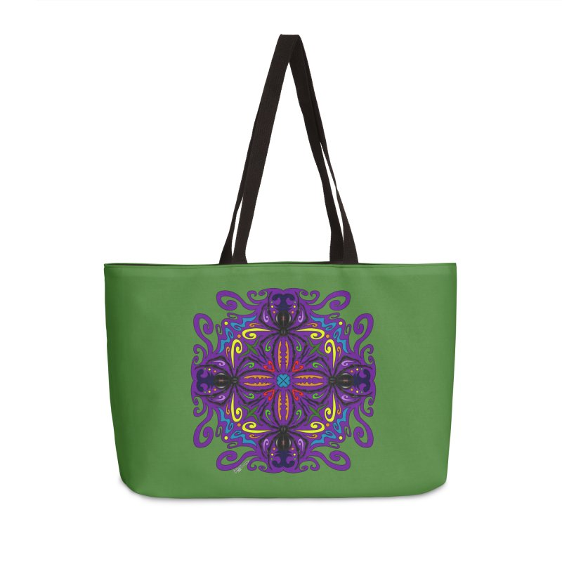Arachnophobia Accessories Weekender Bag Bag by Magickal Vision: The Art of Jolie E. Bonnette