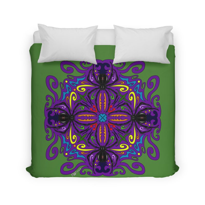 Arachnophobia Home Duvet by Magickal Vision: The Art of Jolie E. Bonnette