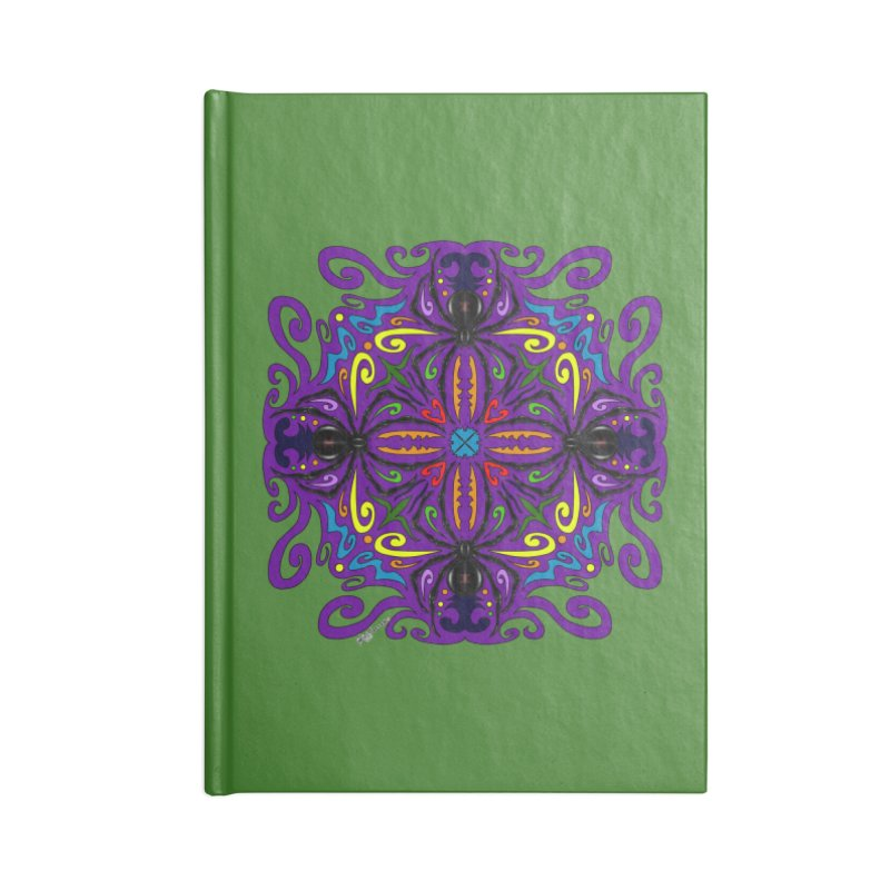 Arachnophobia Accessories Lined Journal Notebook by Magickal Vision: The Art of Jolie E. Bonnette