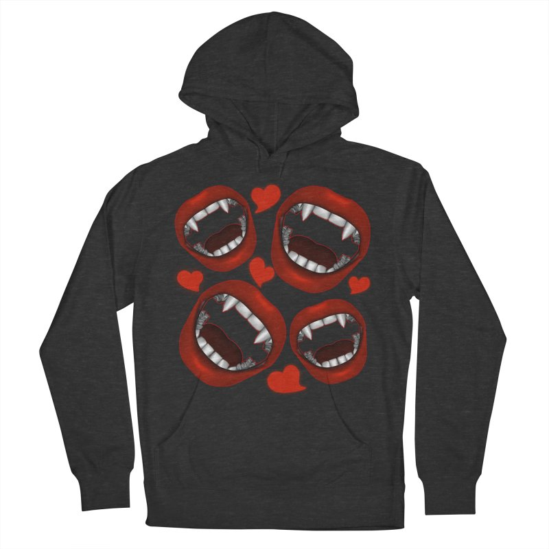 Vampy Love Men's French Terry Pullover Hoody by Magickal Vision: The Art of Jolie E. Bonnette