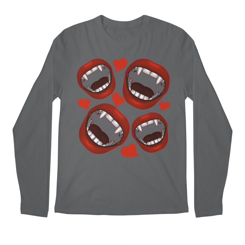 Vampy Love Men's Regular Longsleeve T-Shirt by Magickal Vision: The Art of Jolie E. Bonnette