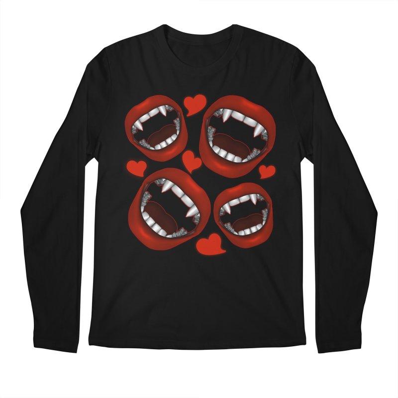 Vampy Love Men's Longsleeve T-Shirt by Magickal Vision: The Art of Jolie E. Bonnette
