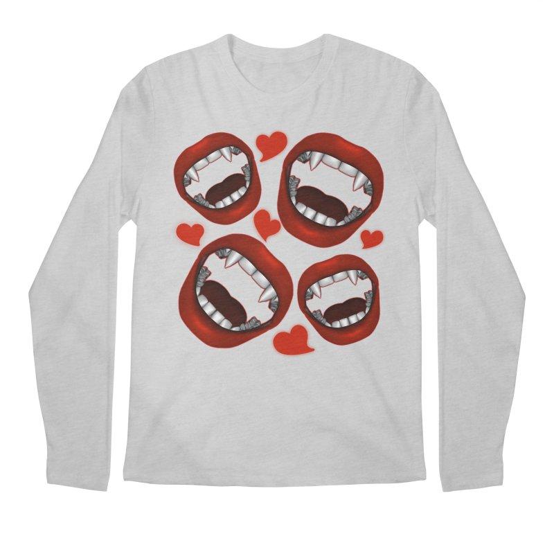 Vampy Love Men's Regular Longsleeve T-Shirt by Magickal Vision: The Art of Jolie E. Bonnette