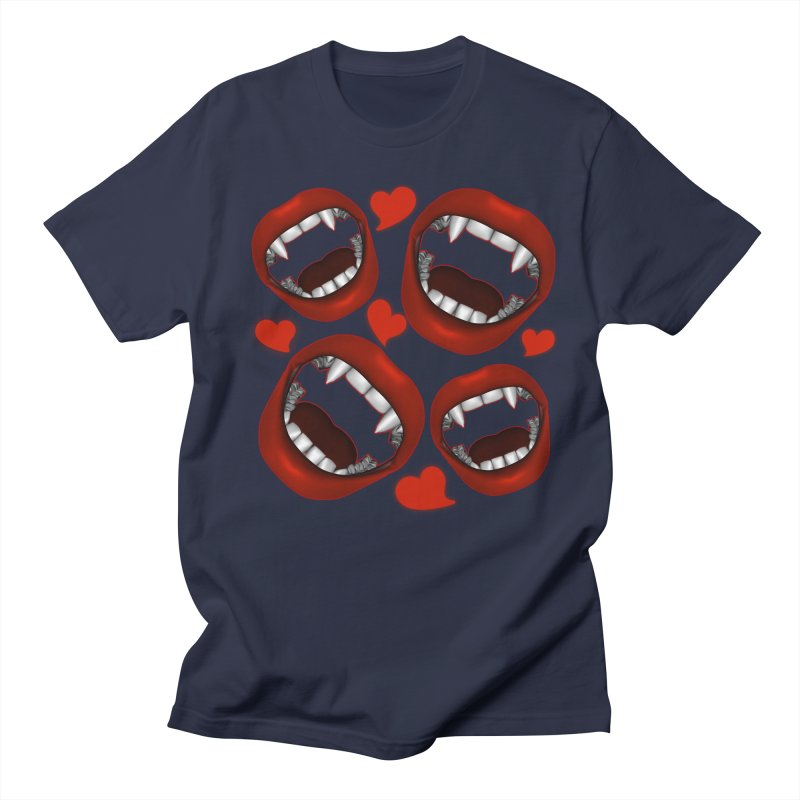 Vampy Love Men's Regular T-Shirt by Magickal Vision: The Art of Jolie E. Bonnette