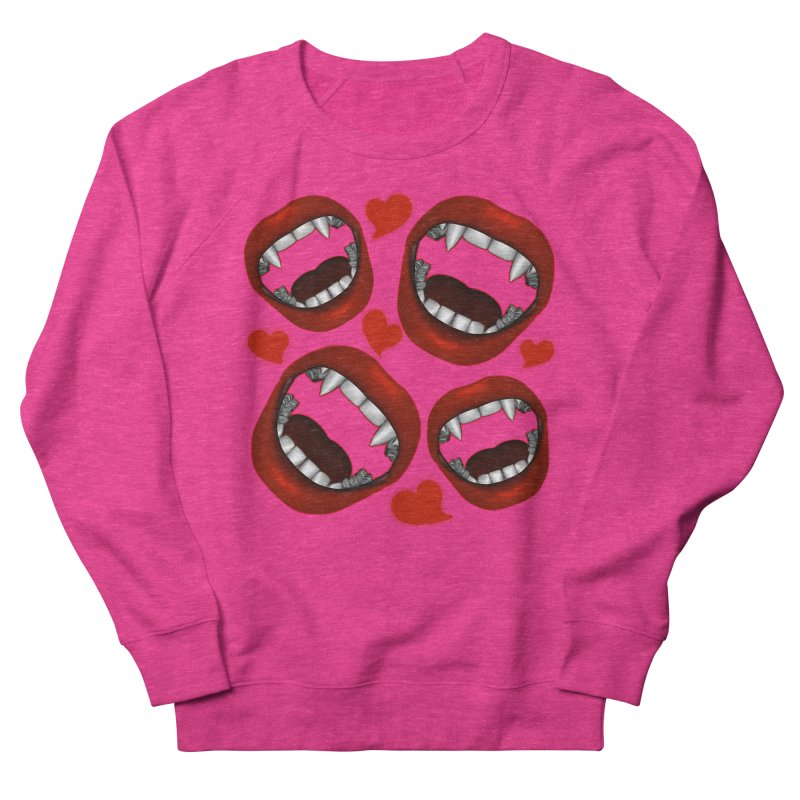 Vampy Love Women's French Terry Sweatshirt by Magickal Vision: The Art of Jolie E. Bonnette
