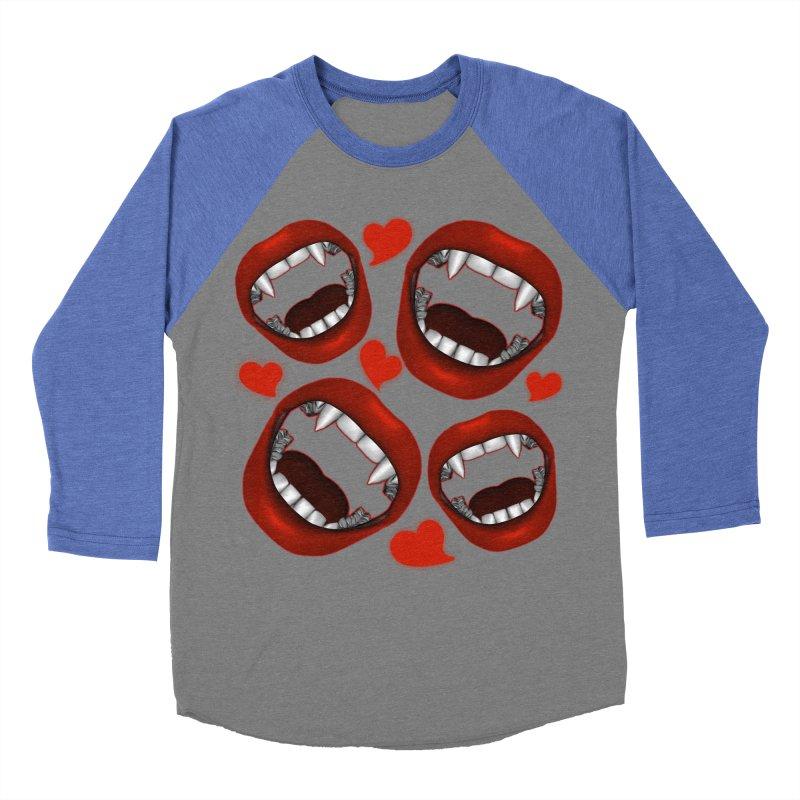 Vampy Love Women's Baseball Triblend T-Shirt by Magickal Vision: The Art of Jolie E. Bonnette
