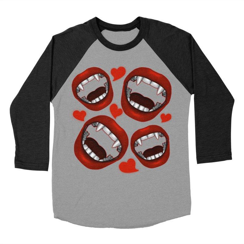 Vampy Love Men's Baseball Triblend Longsleeve T-Shirt by Magickal Vision: The Art of Jolie E. Bonnette