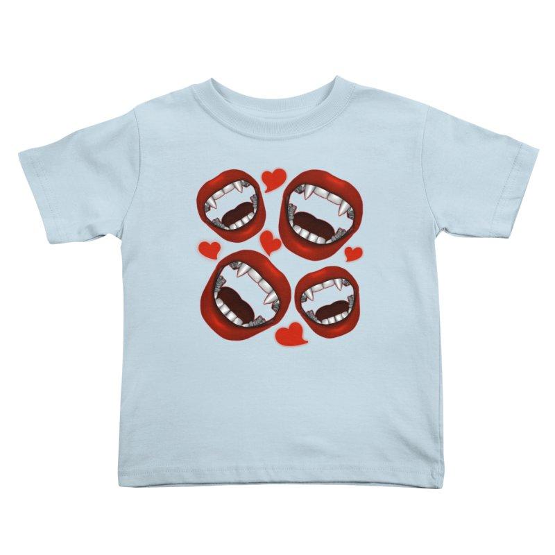 Vampy Love Kids Toddler T-Shirt by Magickal Vision: The Art of Jolie E. Bonnette
