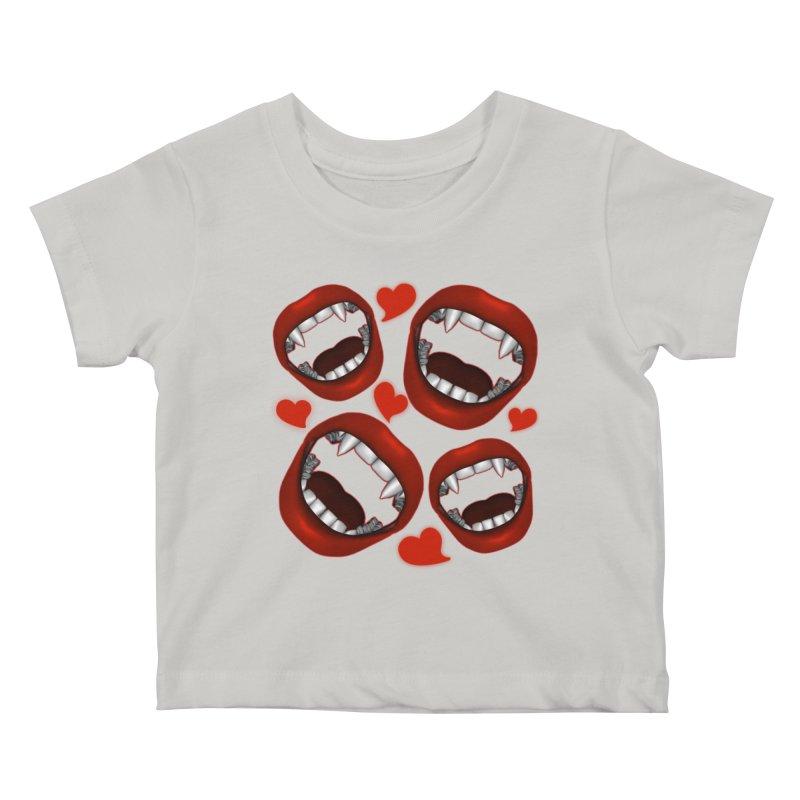 Vampy Love Kids Baby T-Shirt by Magickal Vision: The Art of Jolie E. Bonnette