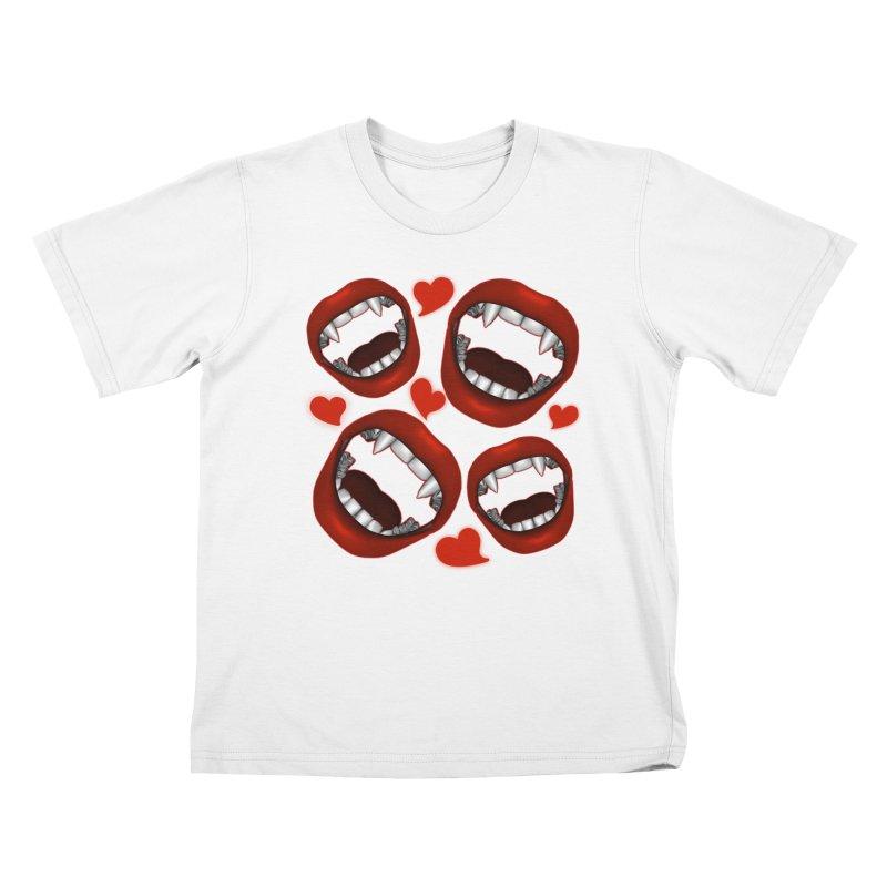 Vampy Love Kids T-Shirt by Magickal Vision: The Art of Jolie E. Bonnette