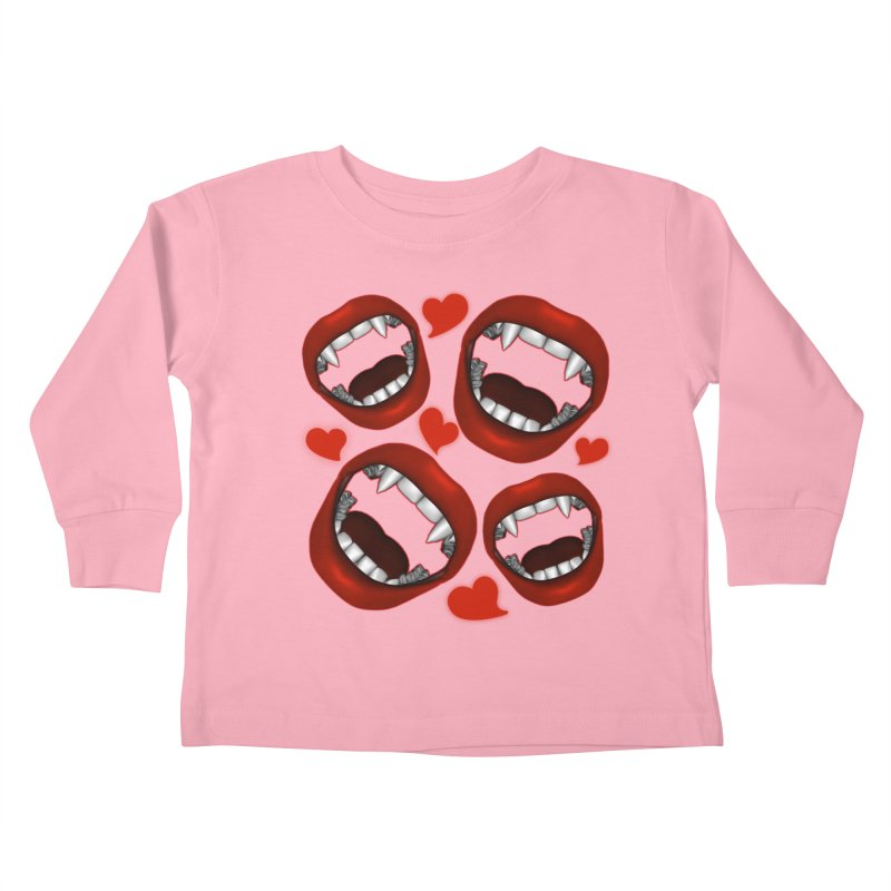 Vampy Love Kids Toddler Longsleeve T-Shirt by Magickal Vision: The Art of Jolie E. Bonnette