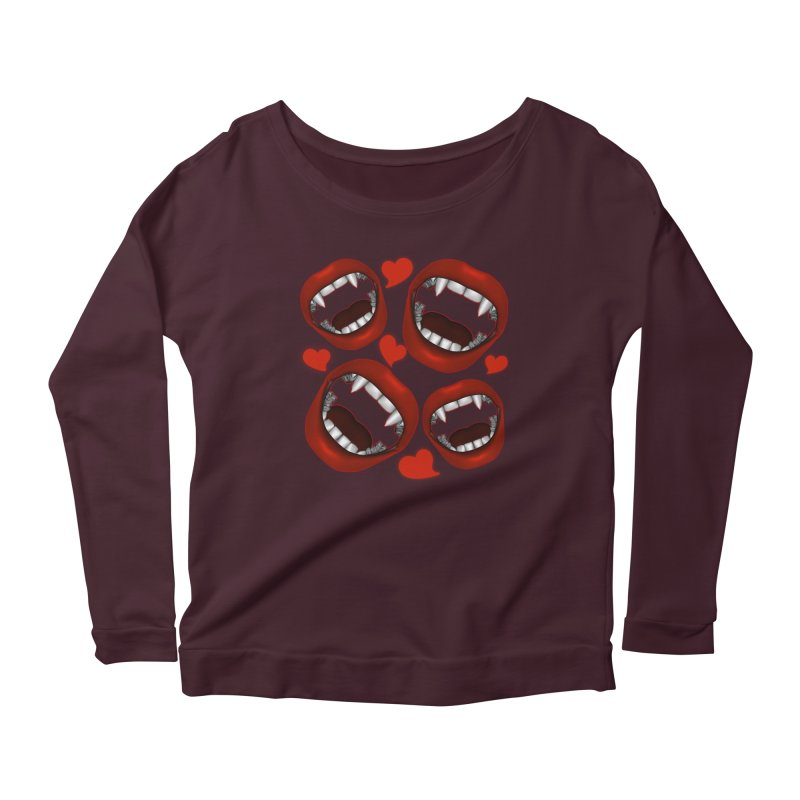 Vampy Love Women's Longsleeve Scoopneck  by Magickal Vision: The Art of Jolie E. Bonnette