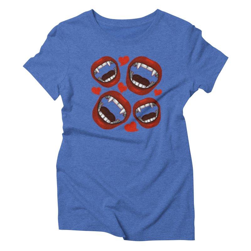 Vampy Love Women's Triblend T-Shirt by Magickal Vision: The Art of Jolie E. Bonnette