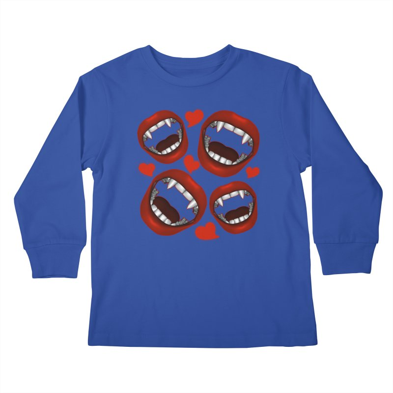 Vampy Love Kids Longsleeve T-Shirt by Magickal Vision: The Art of Jolie E. Bonnette