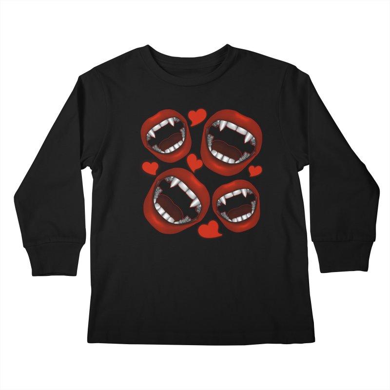 Vampy Love Kids Longsleeve T-Shirt by Magickal Vision: The Art of Jolie E. Bonnette