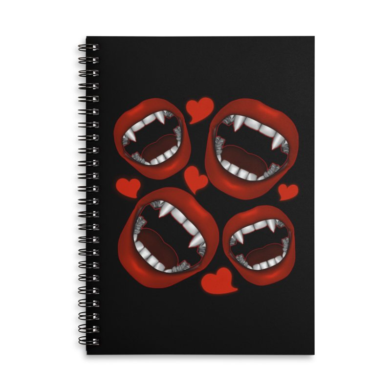 Vampy Love Accessories Lined Spiral Notebook by Magickal Vision: The Art of Jolie E. Bonnette