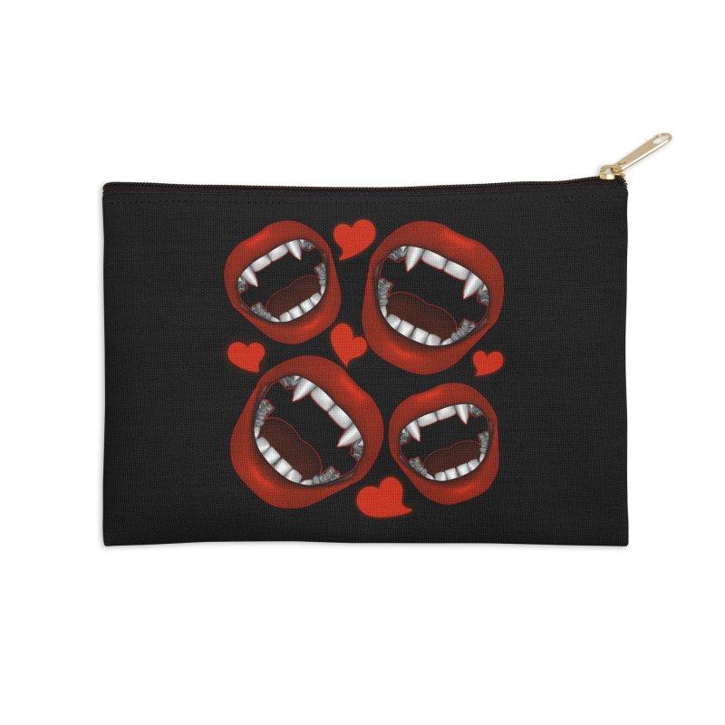Vampy Love Accessories Zip Pouch by Magickal Vision: The Art of Jolie E. Bonnette