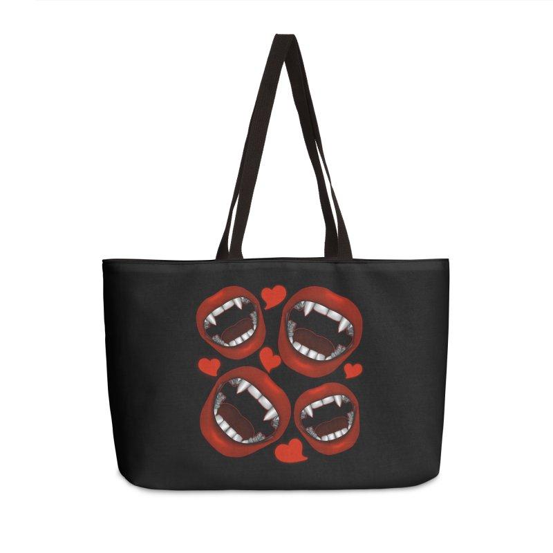 Vampy Love Accessories Weekender Bag Bag by Magickal Vision: The Art of Jolie E. Bonnette