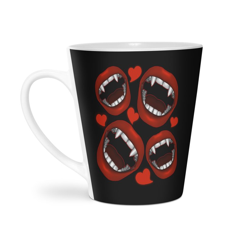 Vampy Love Accessories Latte Mug by Magickal Vision: The Art of Jolie E. Bonnette