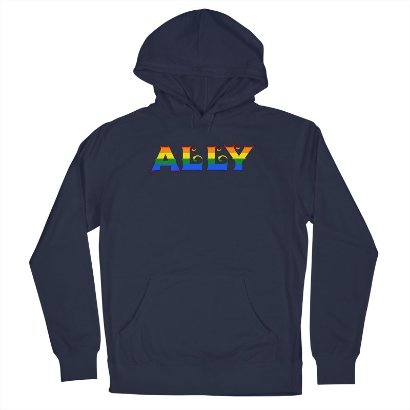 LGBTQ Ally Men's Pullover Hoody by Magickal Vision: The Art of Jolie E. Bonnette