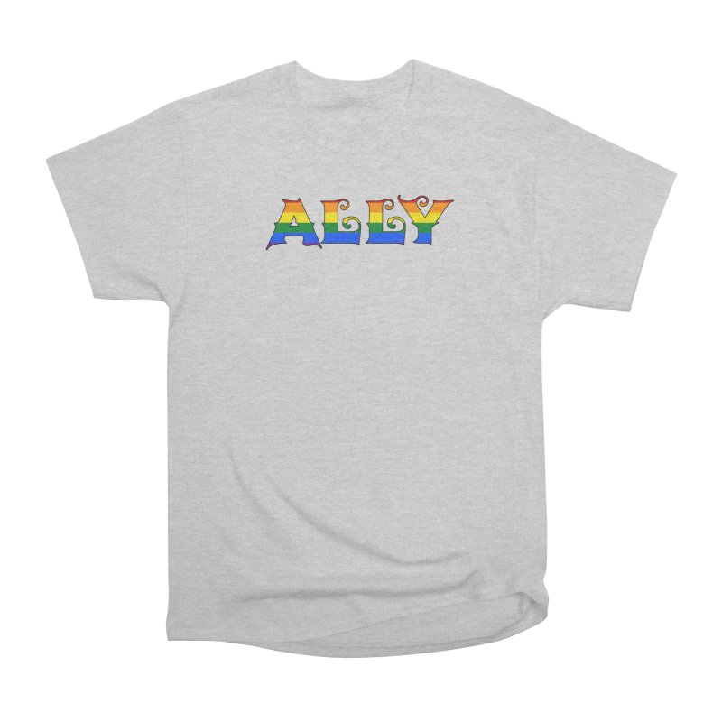 LGBTQ Ally Women's Heavyweight Unisex T-Shirt by Magickal Vision: The Art of Jolie E. Bonnette
