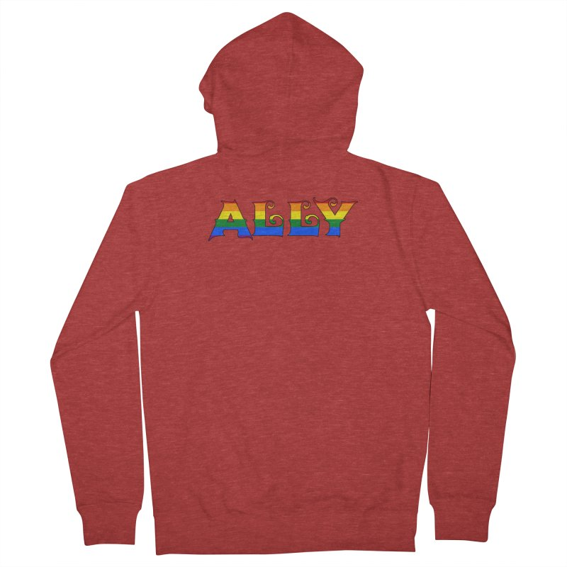 LGBTQ Ally Women's French Terry Zip-Up Hoody by Magickal Vision: The Art of Jolie E. Bonnette