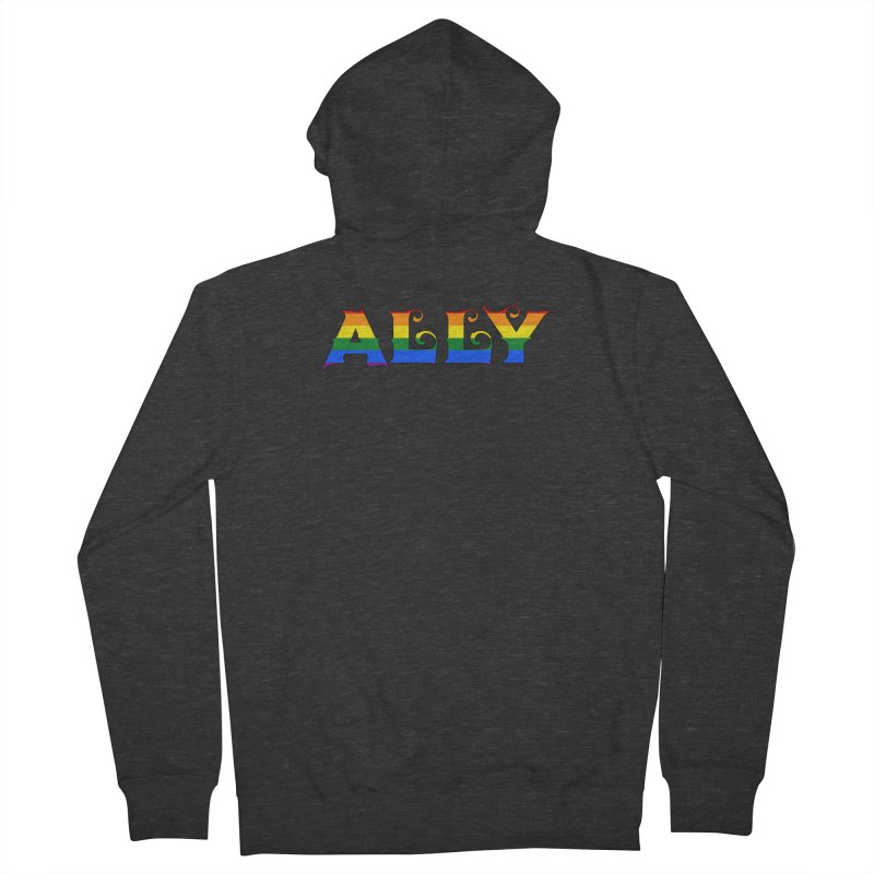 LGBTQ Ally Men's French Terry Zip-Up Hoody by Magickal Vision: The Art of Jolie E. Bonnette