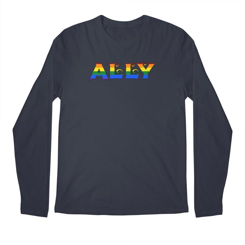 LGBTQ Ally Men's Regular Longsleeve T-Shirt by Magickal Vision: The Art of Jolie E. Bonnette
