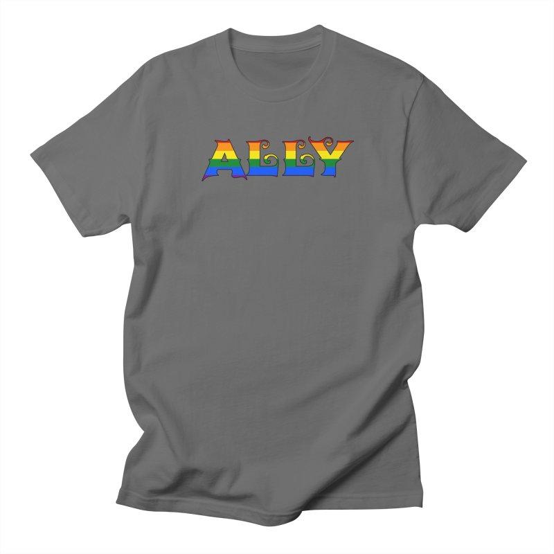 LGBTQ Ally Men's T-Shirt by Magickal Vision: The Art of Jolie E. Bonnette