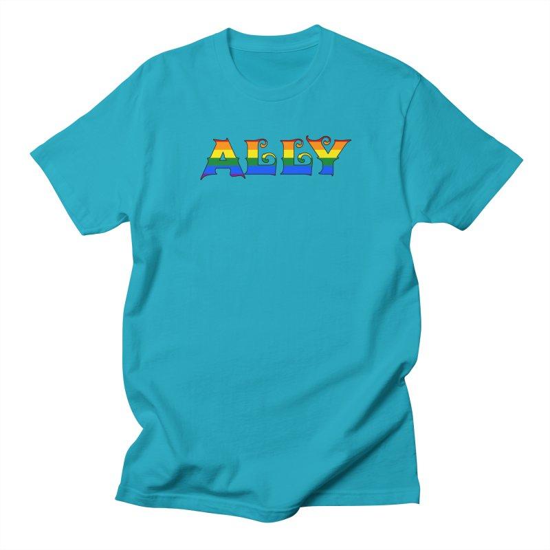LGBTQ Ally Women's Regular Unisex T-Shirt by Magickal Vision: The Art of Jolie E. Bonnette
