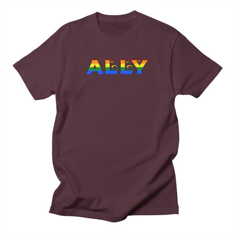 LGBTQ Ally Men's Regular T-Shirt by Magickal Vision: The Art of Jolie E. Bonnette