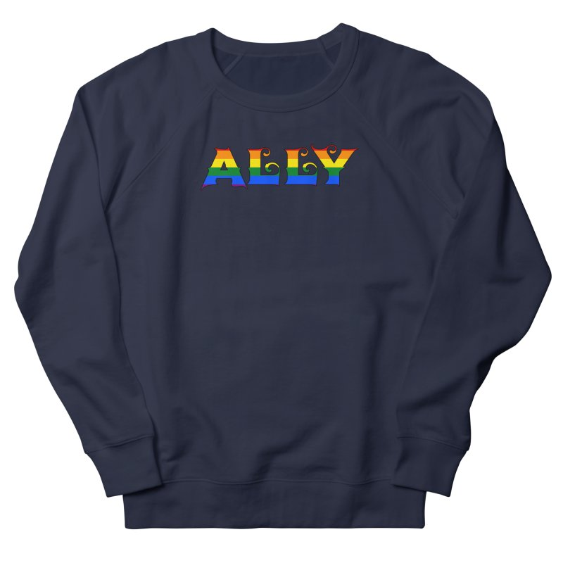 LGBTQ Ally Men's French Terry Sweatshirt by Magickal Vision: The Art of Jolie E. Bonnette