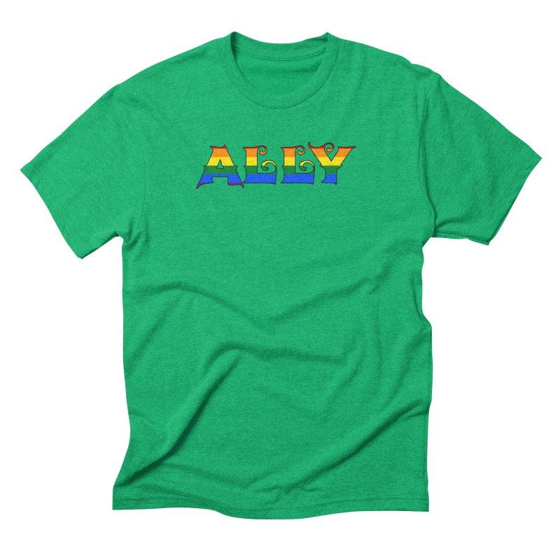 LGBTQ Ally Men's Triblend T-Shirt by Magickal Vision: The Art of Jolie E. Bonnette