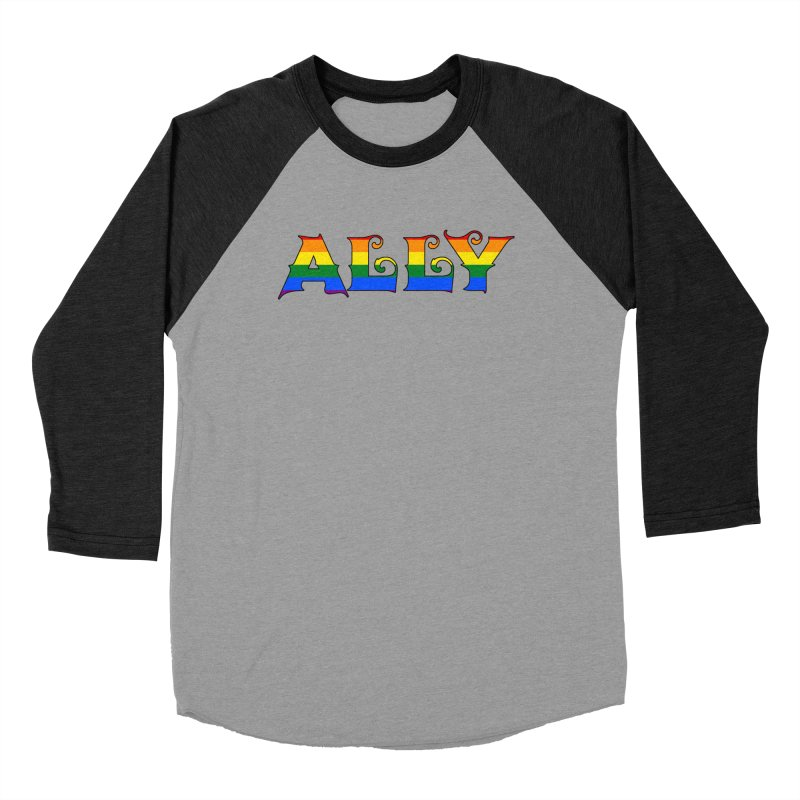 LGBTQ Ally Women's Baseball Triblend T-Shirt by Magickal Vision: The Art of Jolie E. Bonnette