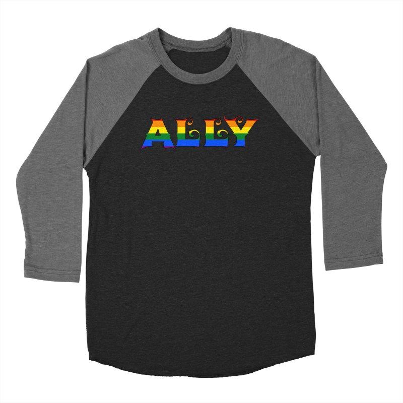 LGBTQ Ally Men's Baseball Triblend Longsleeve T-Shirt by Magickal Vision: The Art of Jolie E. Bonnette