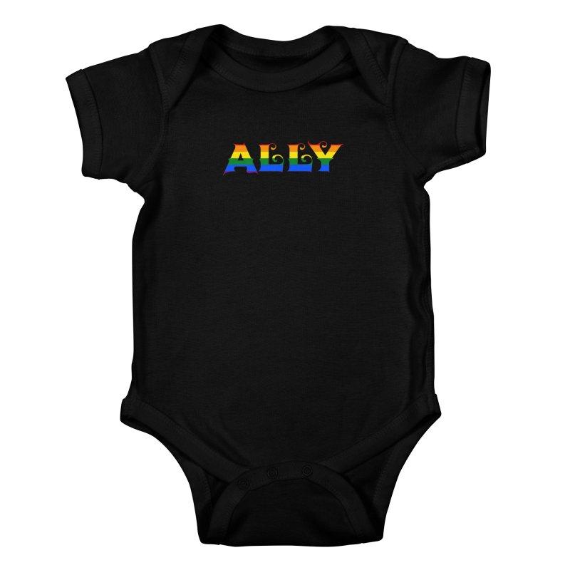 LGBTQ Ally Kids Baby Bodysuit by Magickal Vision: The Art of Jolie E. Bonnette