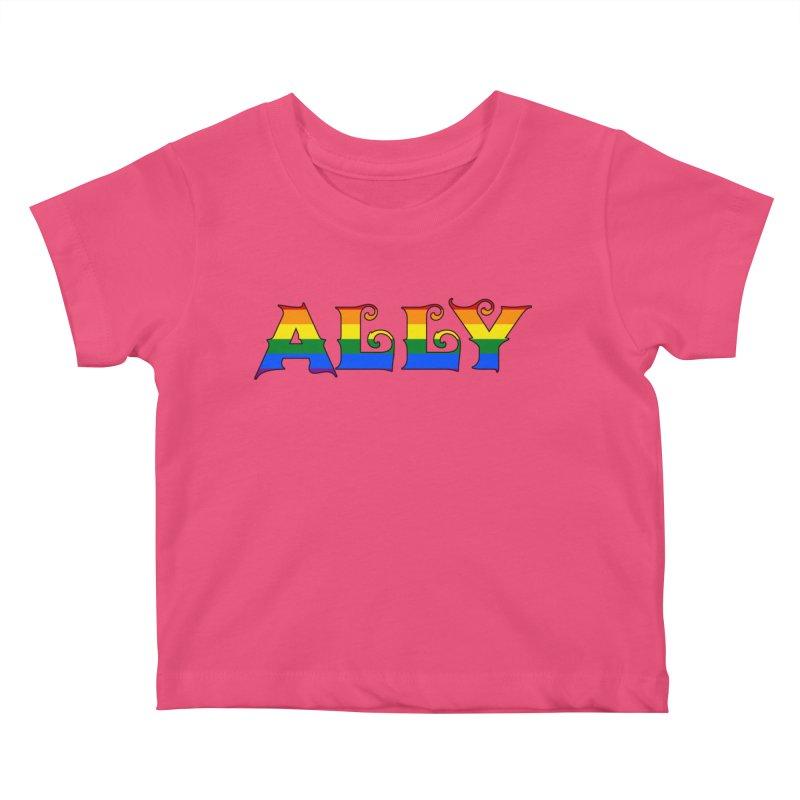 LGBTQ Ally Kids Baby T-Shirt by Magickal Vision: The Art of Jolie E. Bonnette