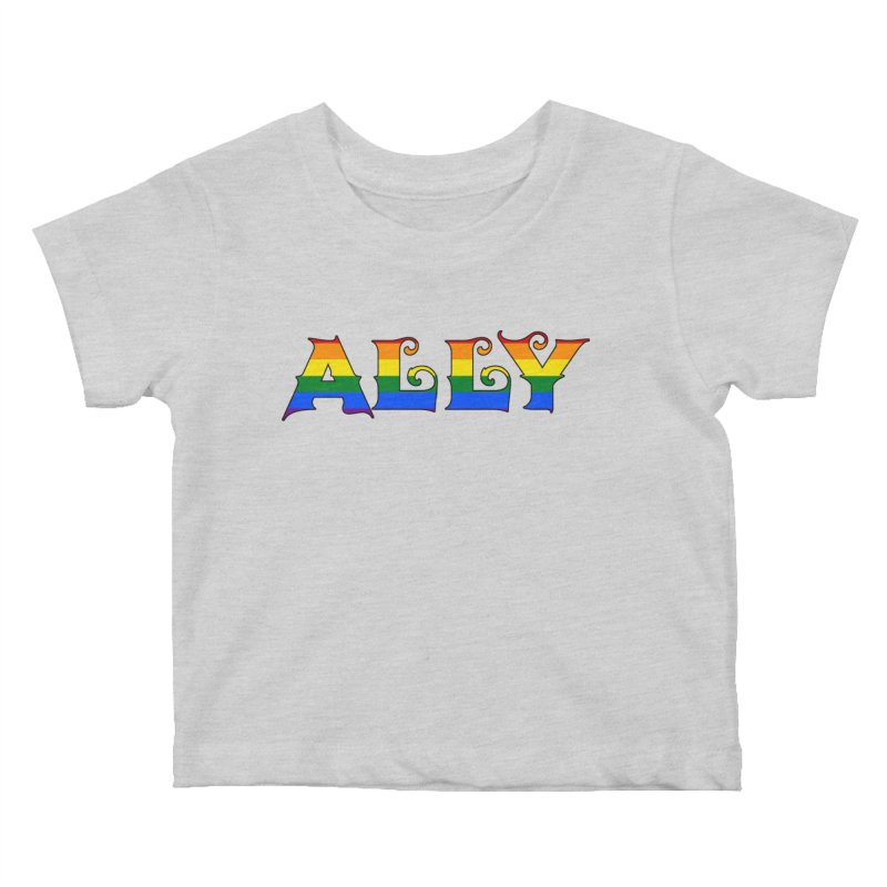 LGBTQ Ally Kids Baby T-Shirt by Magickal Vision: The Art of Jolie E. Bonnette