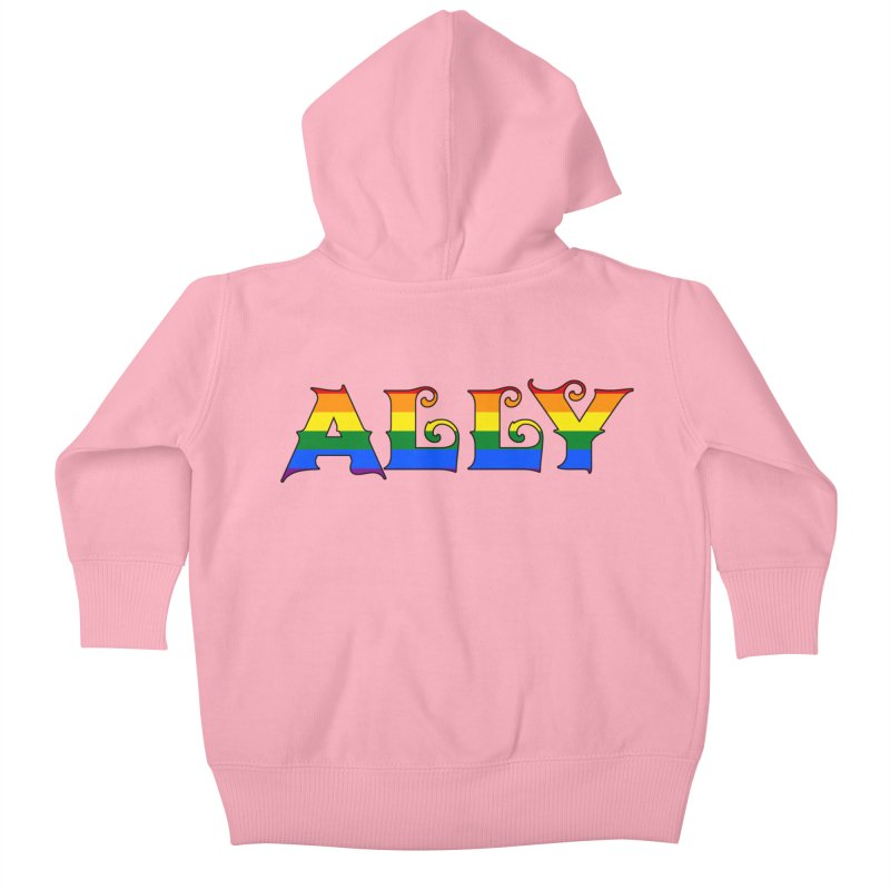 LGBTQ Ally Kids Baby Zip-Up Hoody by Magickal Vision: The Art of Jolie E. Bonnette