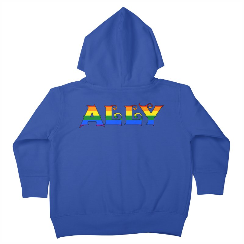 LGBTQ Ally Kids Toddler Zip-Up Hoody by Magickal Vision: The Art of Jolie E. Bonnette