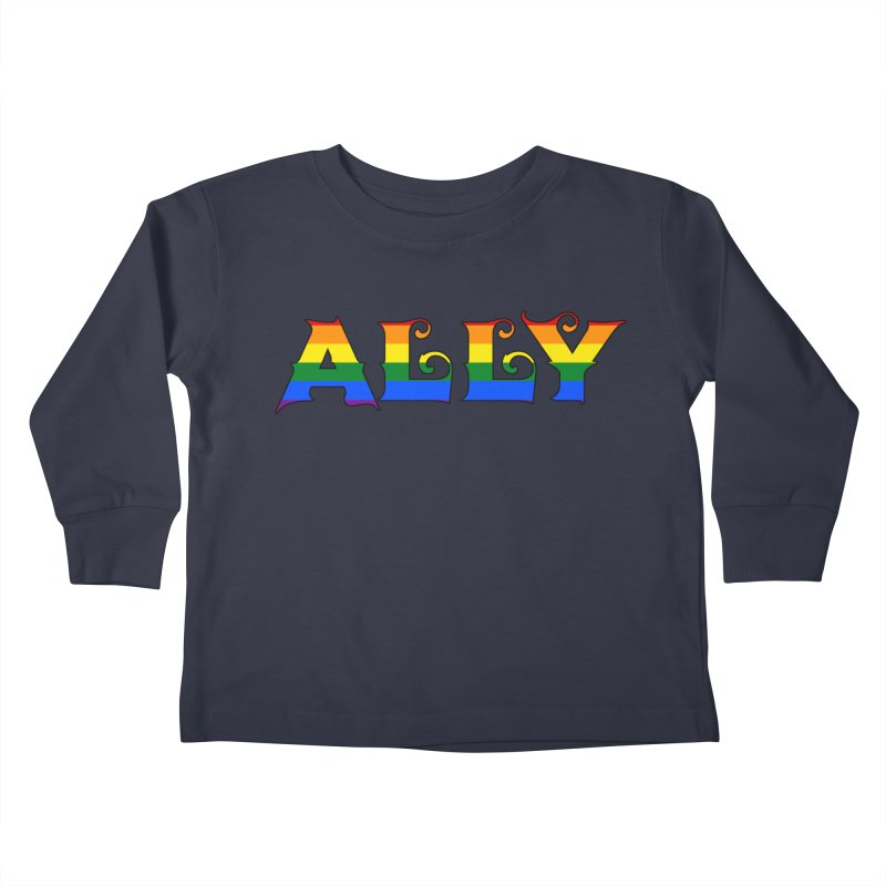 LGBTQ Ally Kids Toddler Longsleeve T-Shirt by Magickal Vision: The Art of Jolie E. Bonnette