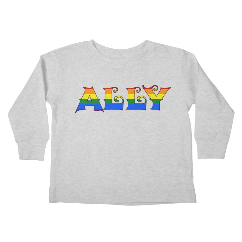 LGBTQ Ally Kids Toddler Longsleeve T-Shirt by Magickal Vision: The Art of Jolie E. Bonnette