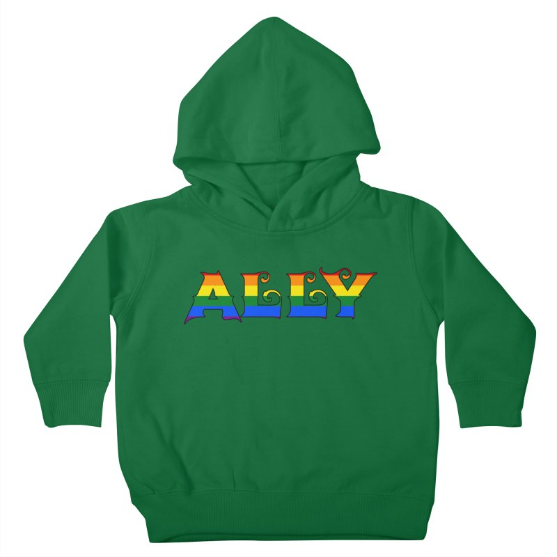 LGBTQ Ally Kids Toddler Pullover Hoody by Magickal Vision: The Art of Jolie E. Bonnette