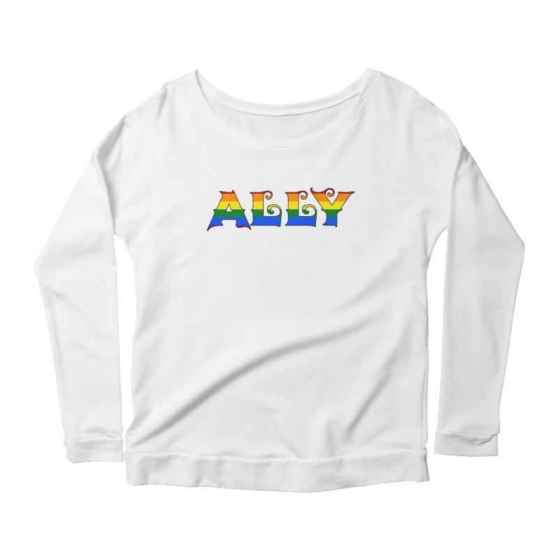 LGBTQ Ally Women's Scoop Neck Longsleeve T-Shirt by Magickal Vision: The Art of Jolie E. Bonnette