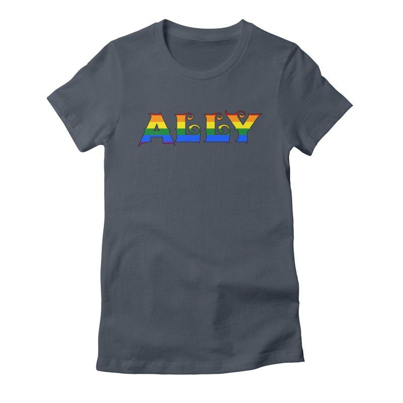 LGBTQ Ally Women's T-Shirt by Magickal Vision: The Art of Jolie E. Bonnette
