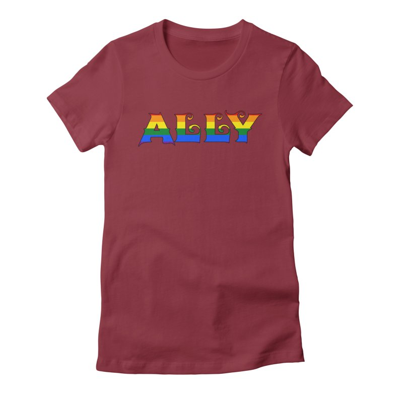 LGBTQ Ally Women's Fitted T-Shirt by Magickal Vision: The Art of Jolie E. Bonnette