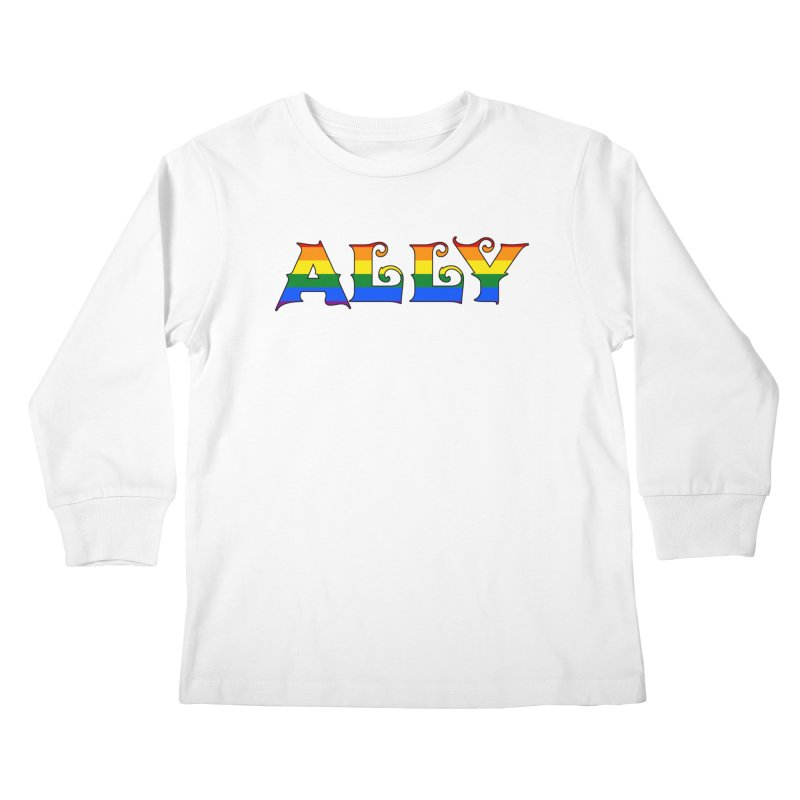 LGBTQ Ally Kids Longsleeve T-Shirt by Magickal Vision: The Art of Jolie E. Bonnette