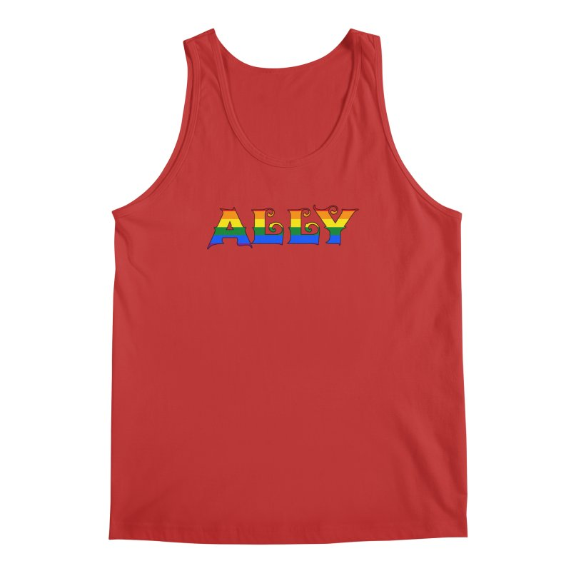 LGBTQ Ally Men's Regular Tank by Magickal Vision: The Art of Jolie E. Bonnette