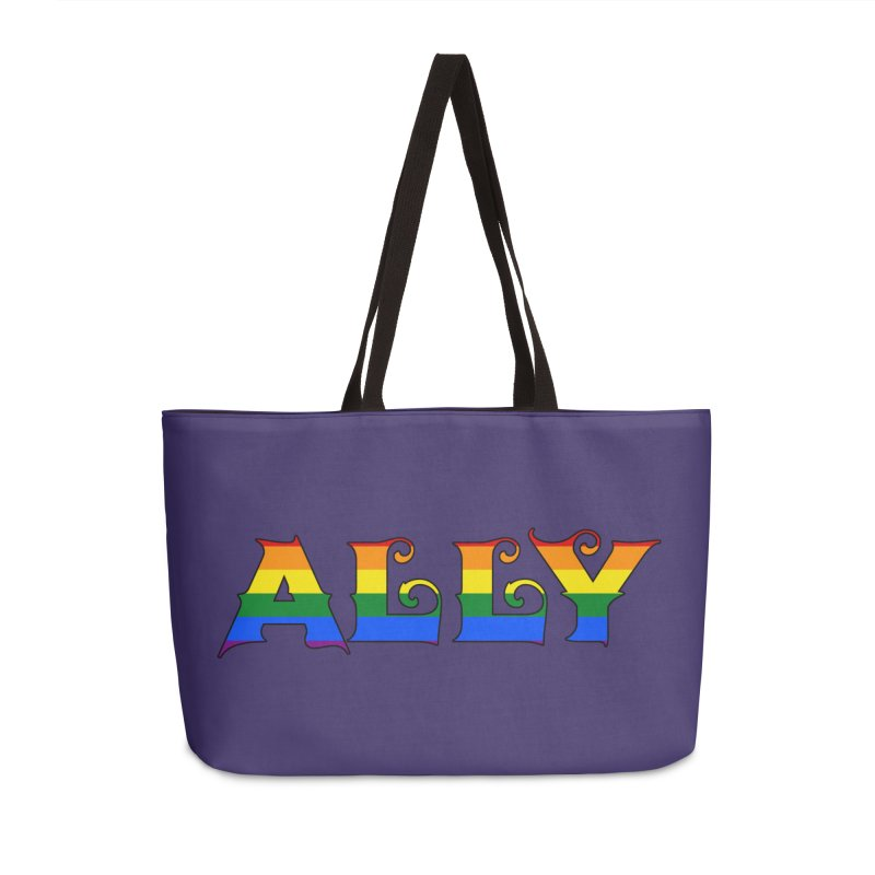 LGBTQ Ally Accessories Weekender Bag Bag by Magickal Vision: The Art of Jolie E. Bonnette
